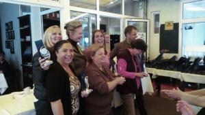 Siegerehrung mit französischen Damen in Bad Soden