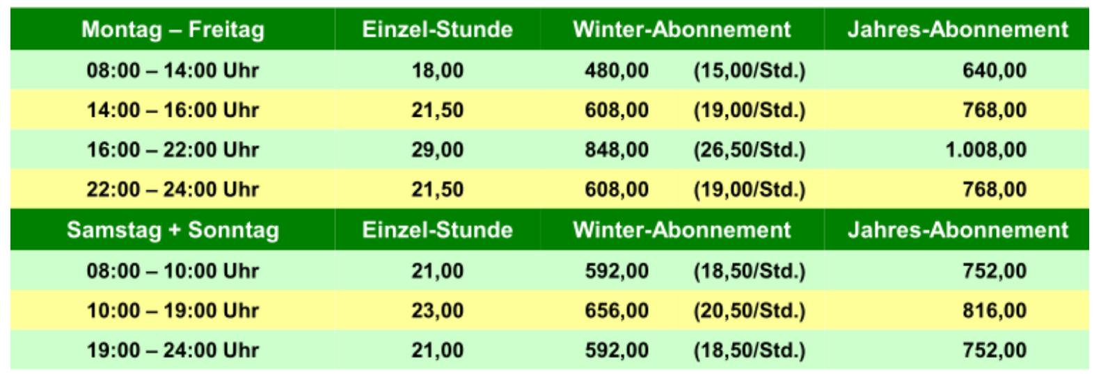 Steinbach Hallenpreise